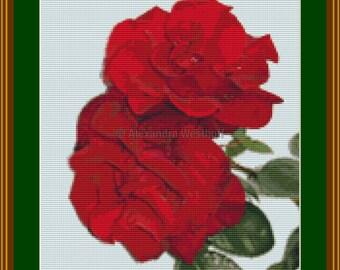 """Cross stitch chart """"Rose 2"""""""