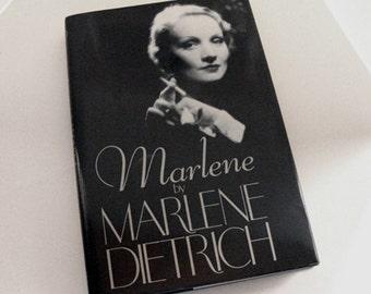 Marlene - Marlene Dietrich Autobiography, Marlene Dietrich photos, gift for old movie buff, old movie fan old Hollywood movie star