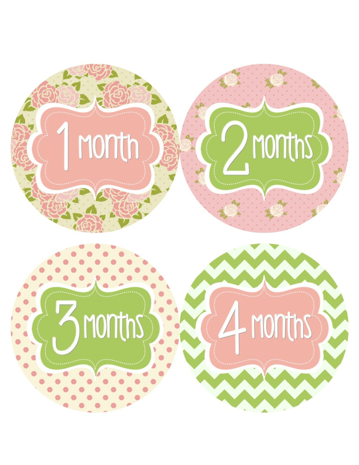 18 Month Stickers: Monthly Baby Stickers Baby Monthly By BumpAndBeyondDesigns