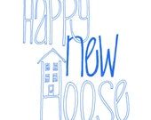 Happy New Hoose - New Home, Moving House, Slang Scottish Geordie Card