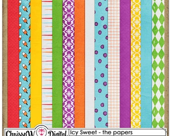 Icy Sweet - Papers for Digital Scrapbooking