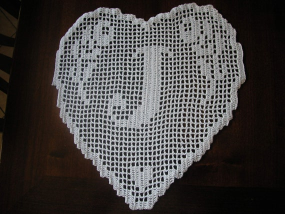 PATTERN crochet filet schema lettera J MONOGRAMMA