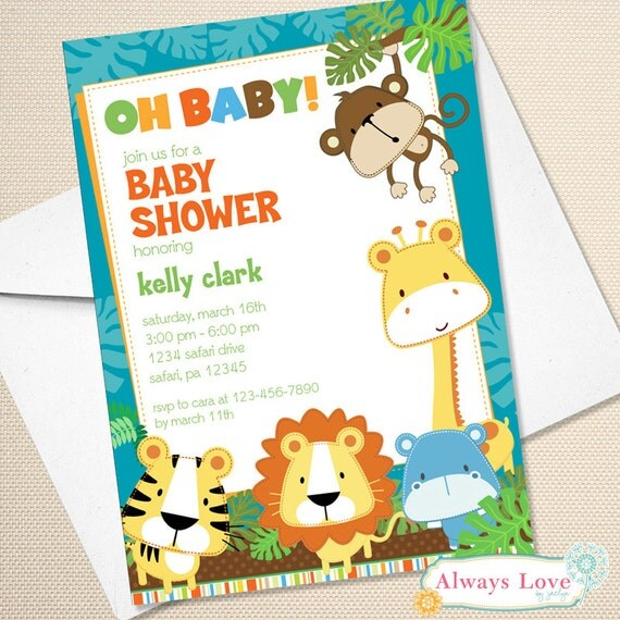 baby shower invitations printable baby shower invites safari