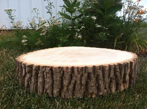 12 14 Rustic Wedding Cake Stand Decor Wood Tree Slice