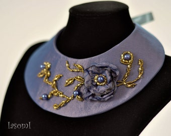 Collar necklace fabric
