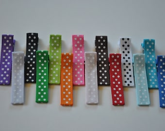 30 pc- wholesale  swiss dot partially lined  SINGLE prong alligator clip