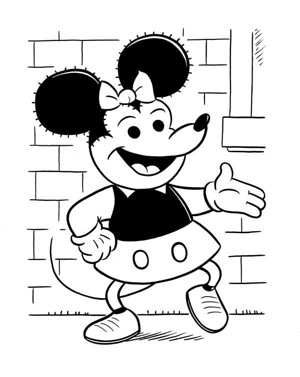 Line Art Mickey Mouse : Cartoon jumble line art mickey mouse by cartoonartbyjeaton
