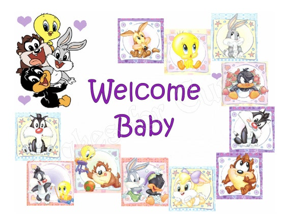 baby shower baby looney tunes party decoration by cakesforcures