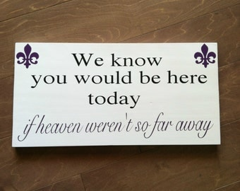 In loving memory - We Know You Would be Here Today if Heaven Weren't So Far Away - In Loving Memory - Wedding Signage - Custom Wood Signs
