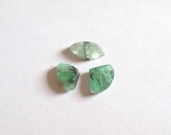 RARE 4.07ct Trapiche Emerald Suite 3pc .Muzo Mines,Colombia - Untreated, Natural & Unique