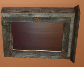 Weathered Gray Barnwood Furniture -  Weathered Gray Medicine Cabinet - Antique Barnwood Medicine Cabinet