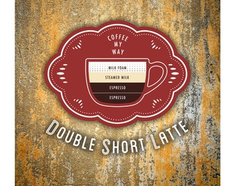 Coffee Poster by Im Different Press - Double Short Latte