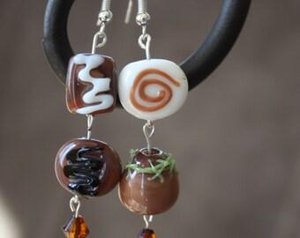 Chocolate candy earrings