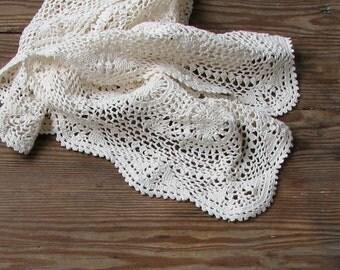 Crochet Doily, Ecru, Classic Crochet, Lace Doily, Home Decor, two pieces