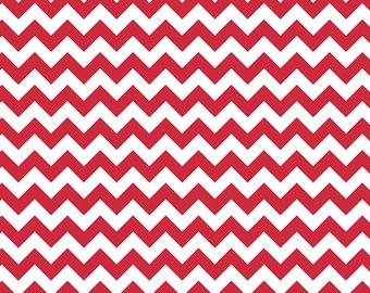 Half Yard - 1/2 Yard - Riley Blake Designs - Small Chevron - Red