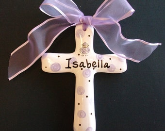 Baptism cross, personalized Christening, Easter or baby Shower Gift