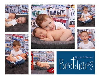 Storyboard template, 16x20 Collage template, Blog Board, Brothers Collage, 16x20 Collage, Storyboard,  Photo template, Brothers collage