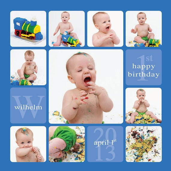 Cake smash template story board template by sugarpickledesigns for First birthday board template