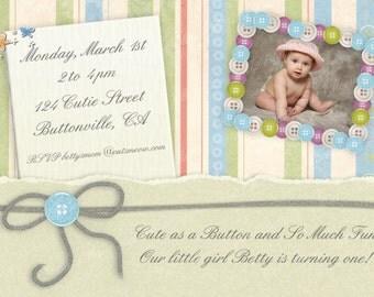 Birthday Invitation, Printable Personalized Children's Birthday Invite
