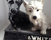Black & White Whisky Dogs Advertising Object