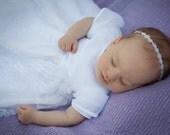 Newborn Halo Headband organza & pearl photo prop Ready to ship UK seller