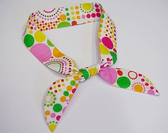 Cooling Neck Scarf Gel Neck Cooler Stay Cool Tie Bandana Wrap Body Head Heat Relief Headband Geometric Circles iycbrand
