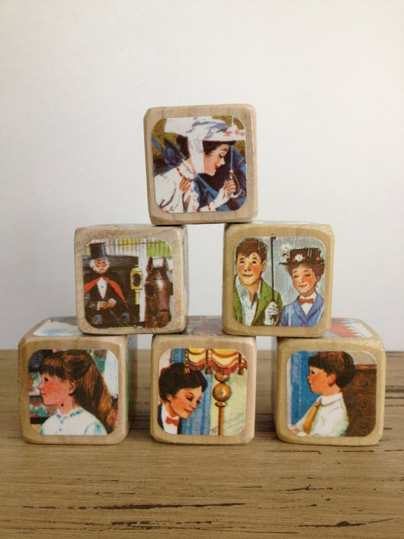 Toys For Mary Poppins : Items similar to mary poppins childrens book blocks