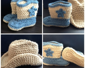 Cowboy Set Crochet