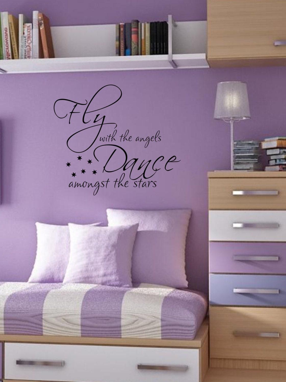Wall Decals For Girls Bedroom Dance Amongst The Stars Teen Kids Bedroom Vinyl Wall Decal