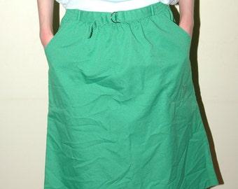 Vintage Green Skirt Sz S