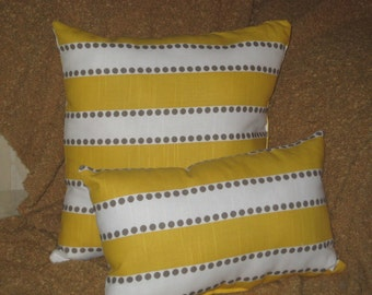 Taupe/ Yellow Oblong Throw Pillow (Free Shipping)