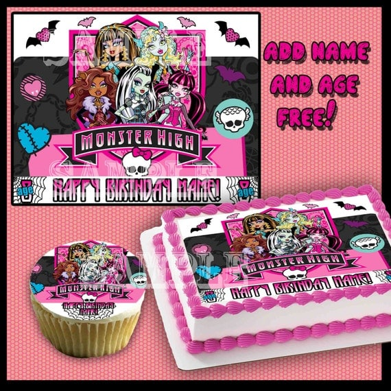 Where Can I Buy A Monster High Birthday Cake