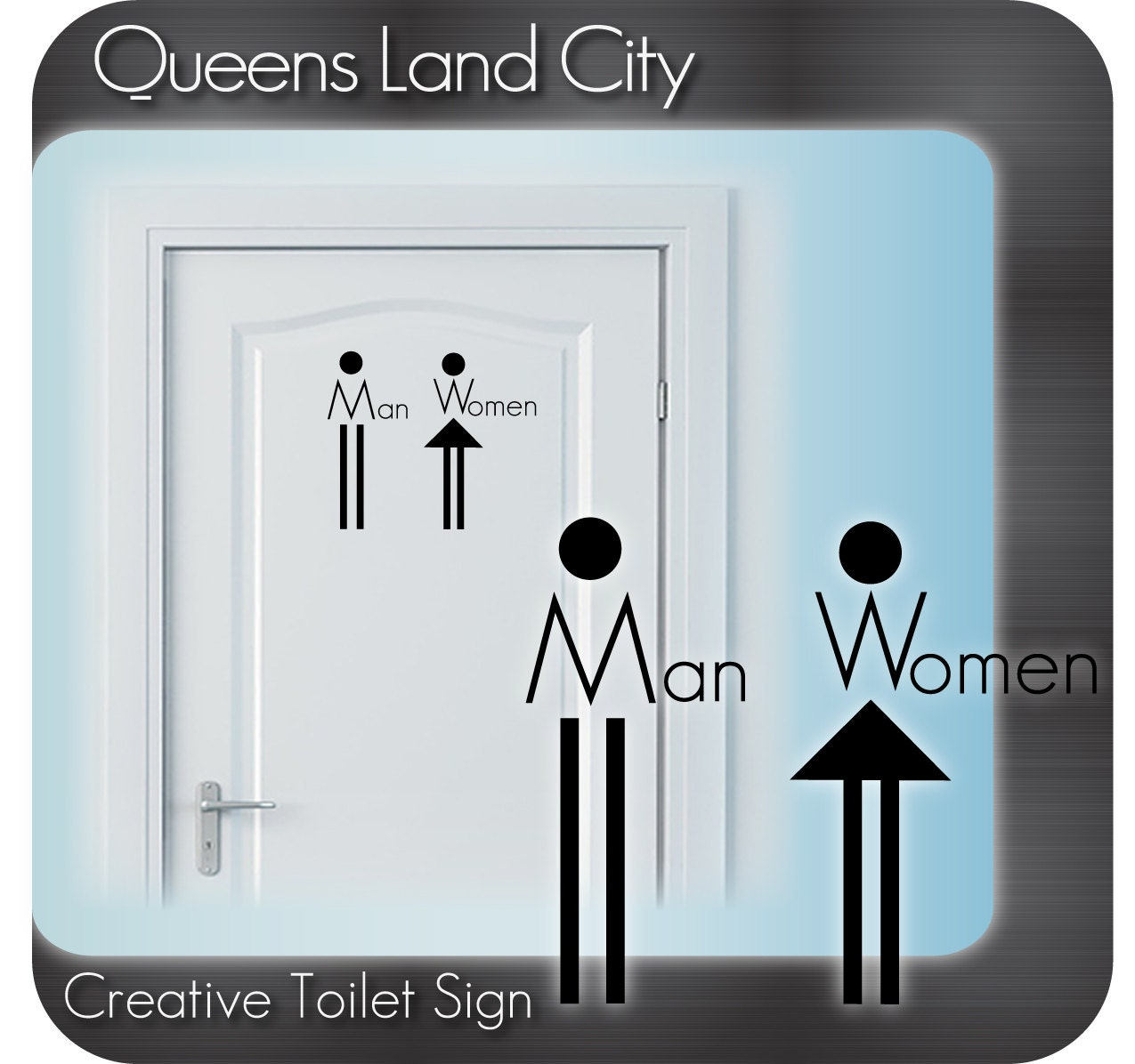 Login Funny Toilet Sign Door Sticker Custom Name Door: Creative Funny Bathroom Toilet WC Business Pub Club Restaurant