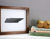 Tennessee State Silhouette Frame