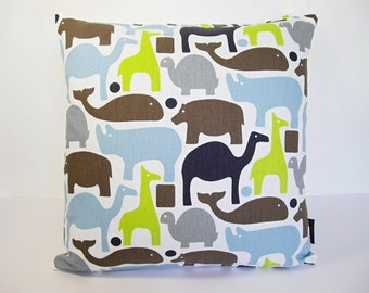 "Dwell Studio fabric Kids 16"" cushion cover - Zoo Animal Pals"