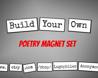 Build-Your-Own Poetry Magnet Set - Refrigerator Poetry Magnets - Free Gift Wrap