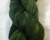 STRAND -  It's Not Easy - Fingering Wool Yarn - green, forest, olive OOAK