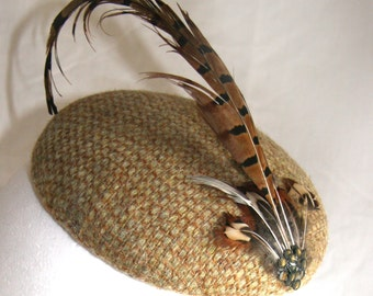 Pheasant Feather fascinator / head piece for Women