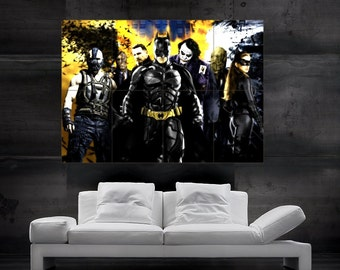 Batman The Dark Knight Rises comics Poster Print Wall Art huge giant photo big parts  HH10754 S2
