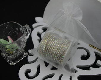 50 4 x 6 White Organza Jewelry Gift Pouch Bags Great For Wedding favors, sachets, beads, jewelry, and more