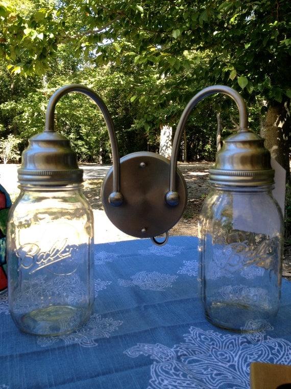 Mason Jar Wall Sconce Etsy : Items similar to Mason Jar Sconce / Mason Jar Wall Light on Etsy