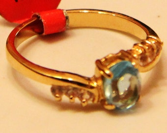 18k Gold Plated ring plated  with zircons