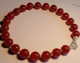 red Jade Necklace, Jumbo  (JK 615)