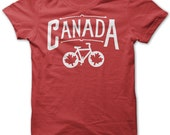 Bike Canada Shirts Canada Bicycle T shirt