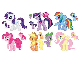 My Little Pony Friendship is Magic Removable Wall Decal Stickers Set of 7