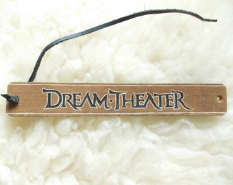 DREAM THEATER leather bracelet - carved leather jewelry