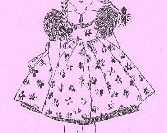 A Little Girl Doll  Vintage Pattern - Photocopy