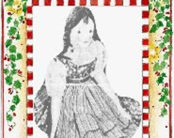 For a Little Girl's Christmas Pattern 3078  -  Photocopy