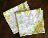 Vintage King Pillowcases Set of 2 - Yellow Bouquet