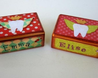 Personalized Custom Name and Colors Tooth Fairy Box Tooth Fairy Treasure Box